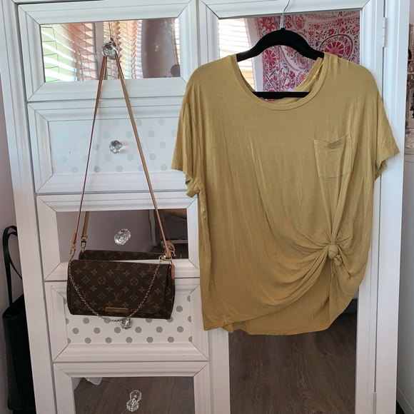 Mossimo Supply Co. Tops - MUSTARD TEE W POCKET